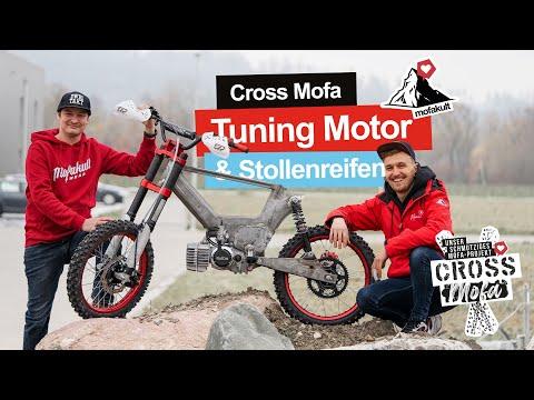 CROSS MOFA PROJEKT   75CCM TUNING MOTOR & MASSIVE REIFEN