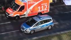 Notarzteinsatz mit RTH auf der Frankfurter Allee - Polizei als Notarztzubringer