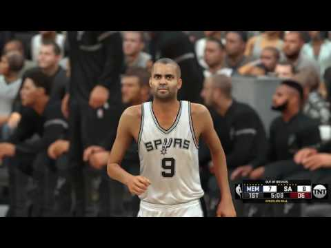 NBA 2K17: San Antonio Spurs vs. Memphis Grizzlies - Dime Theory Hoops Roster and Sliders Full Game