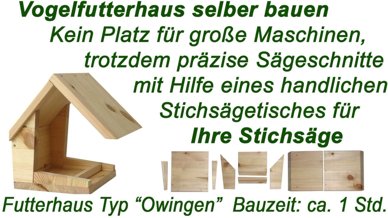vogelhaus mit anleitung aus holz selber bauen ein futterhaus f r den winter youtube. Black Bedroom Furniture Sets. Home Design Ideas