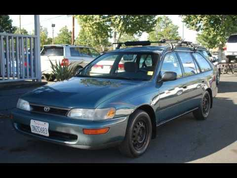 1995 toyota corolla dx wagon for sale in san jose ca youtube. Black Bedroom Furniture Sets. Home Design Ideas