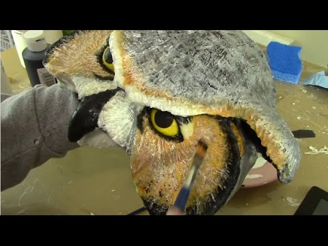 Make a Paper Mache Owl Mask, Part 1