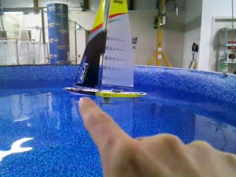 Small RC Autonomous Sailboat