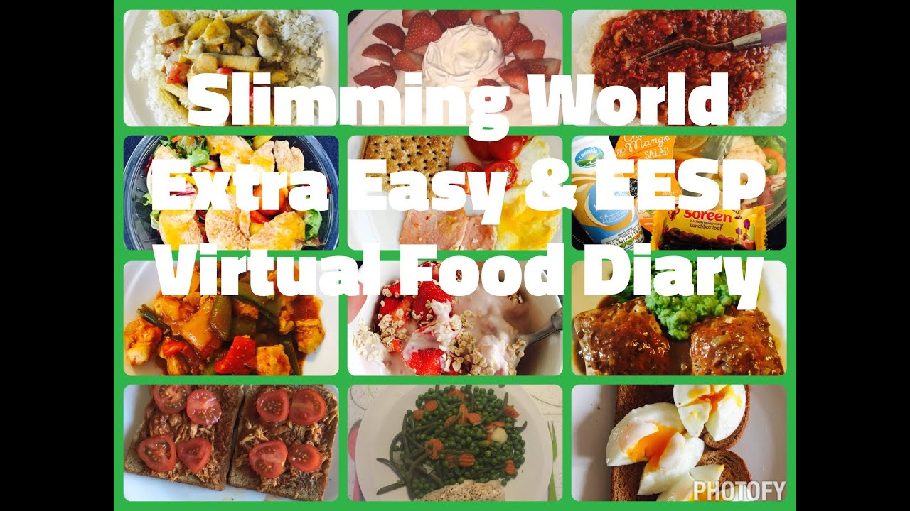 Extra easy sp food diary for slimming world youtube Slimming world meal ideas