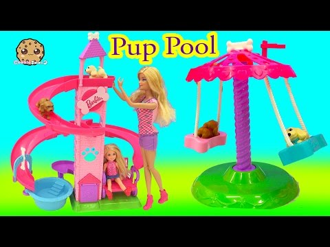 Thumbnail: Barbie Doll Slide & Spin Pups Puppy Pool Water Play Playset - Cookieswirlc Video