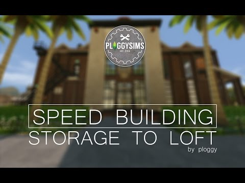 The Sims 4 - SPEED BUILDING - STORAGE TO LOFT PROJECT - INDUSTRIAL STYLED LOFT