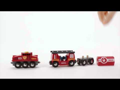 BRIO World - 33844 Rescue Firefighting Train
