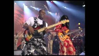 Earth, Wind & Fire, Morris Pleasure and Verdine White jammin´