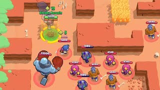 Max 0 Trophy Frank VS Noobs | Trolling Noobs in Brawl Stars