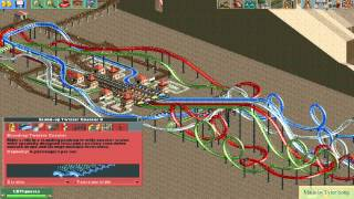 RollerCoaster Tycoon 2 self-made roller coaster download - 5 (Stand-up Twister)
