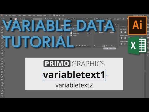 How to use variable data - Adobe Illustrator CC Tutorial - YouTube