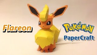 How to make Flareon Pokemon Papercraft