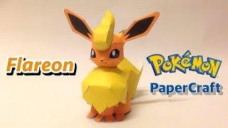 How to make Flareon Pokemon Papercraft