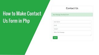 How to Make Contact Us Form in Php
