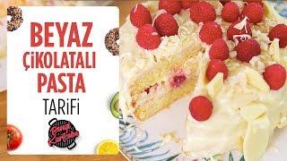 Ev Yapımı Beyaz Çikolatalı Pasta Tarifi🎂 | Kremalı ve Ahudulu Pasta Video