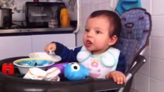 Samy dominando la cuchara :)