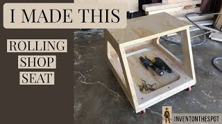 How to Build a Rolling Shop Stool   practical garage solution