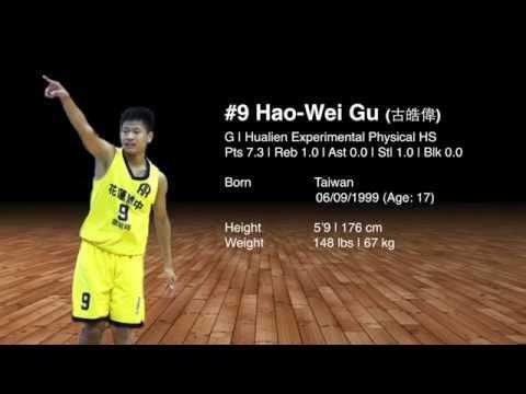 #9 Hao-Wei Gu (古皓偉)|Class: 2017|高二|5'9 (176cm)|148 lbs (67kg)|花蓮體中|G|Age: 17