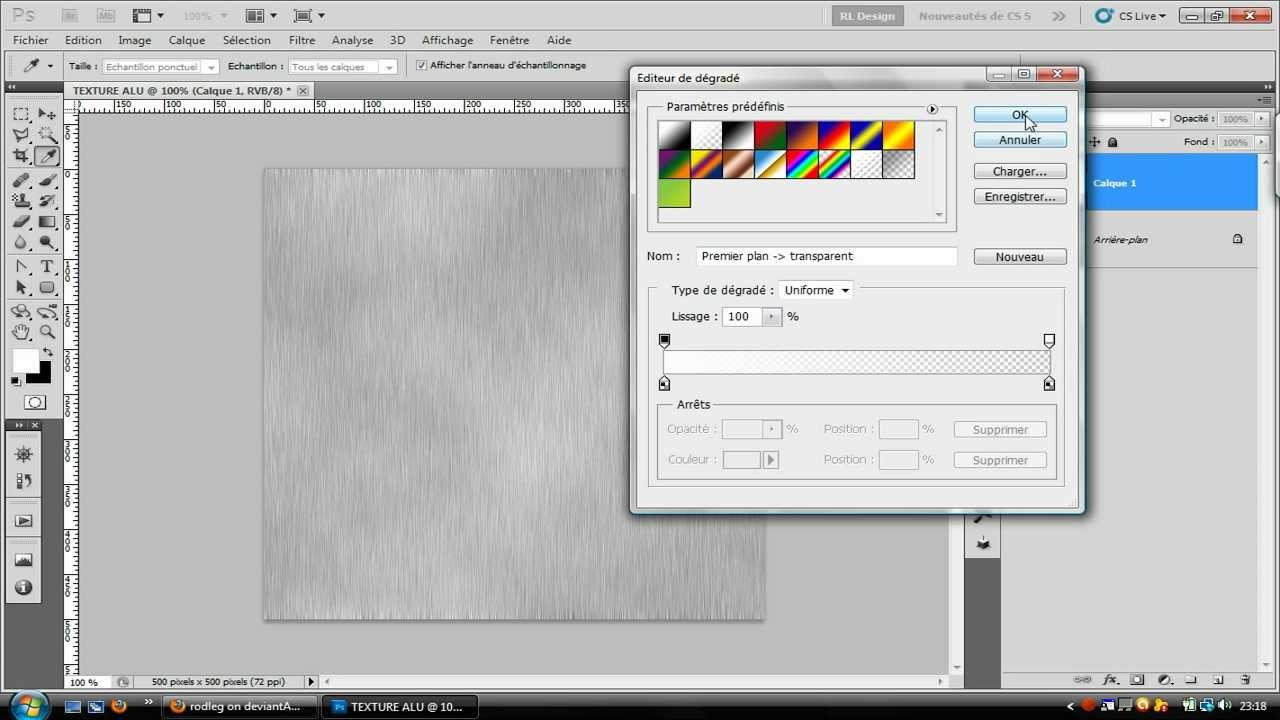 Tuto 1-Réalisation d'une texture d'aluminium avec Photoshop cs5 - YouTube