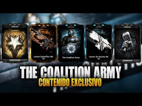 ASI SE OBTIENE EL CONTENIDO EXCLUSIVO DE THE COALITION | GEARS OF WAR