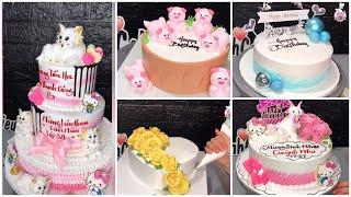 #136 trang trí bánh kem | Make birthday cake | Dieulinhcake