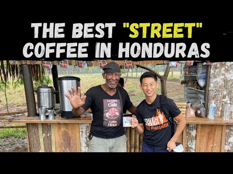 Trying the #1 STREET coffee in Honduras