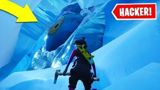 Hacker manages to get into the crack of the Polar peak at Fortnite Season 9..