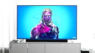 "$10,000 Samsung 82"" 8K Flagship TV Unboxing - Fortnite, NES Mini, GTA: San Andreas Gameplay"
