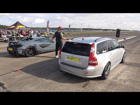 550HP Volvo V50 T5 vs 600HP McLaren 600LT