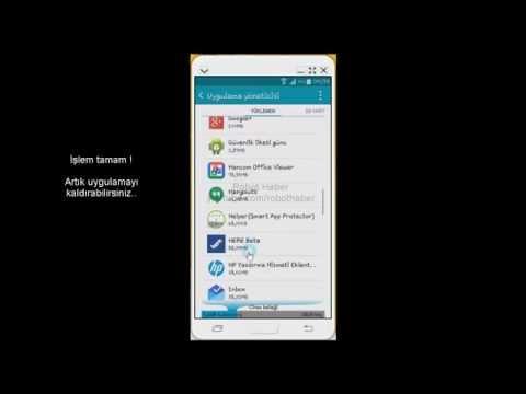 Android kaldırılamayan uygulamaları kaldırma (kesin çözüm)