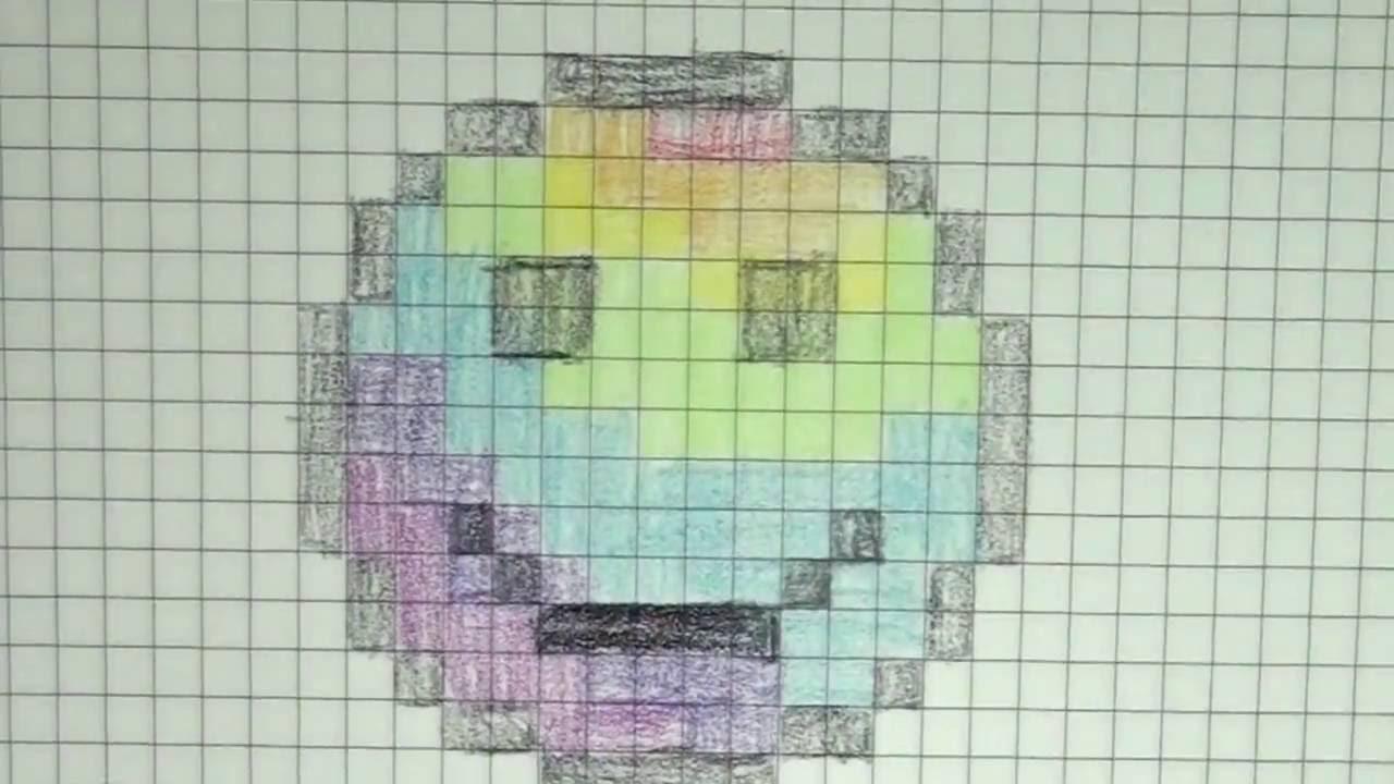 Dessin Pixel Smiley