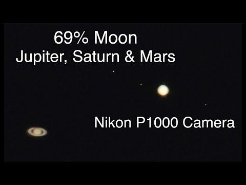 69% Moon, Jupiter, Saturn & Mars On The Nikon P1000