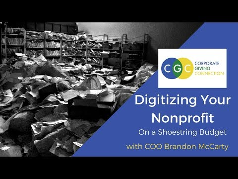 Digitize Your Nonprofit On a Shoestring Budget