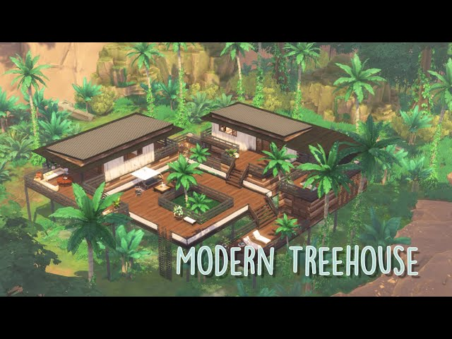 Sims 4 | House Building | Modern Treehouse