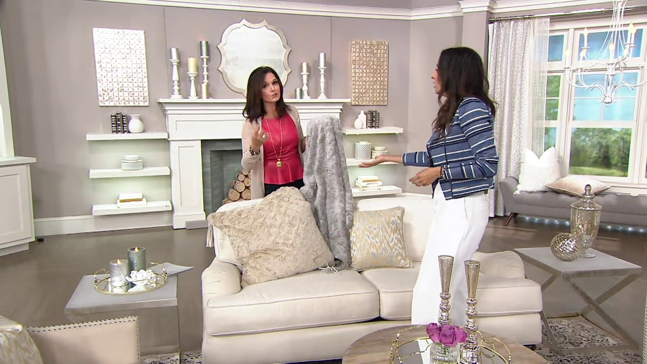 Inspire Me Home Decor Charlton Faux Fur S   Pillows On Qvc