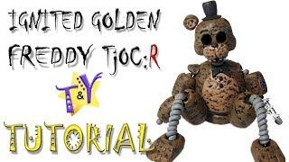 - Как слепить Игнайт Голден Фредди TjOCR Туториал Ignited Golden Freddy from clay Tutorial
