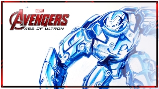 How to draw Hulkbuster AVENGERS / (IRON MAN) Mark XLIV - AGE OF ULTRON