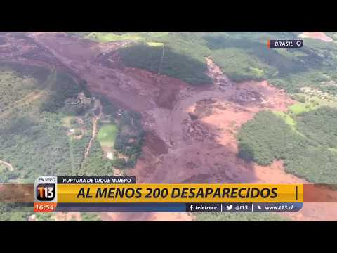 Más de 200 desaparecidos tras colapso de dique minero en Brasil