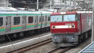 【JR高崎線】安中貨物 オールトキの貨物列車 (EH500金太郎+トキ25000)