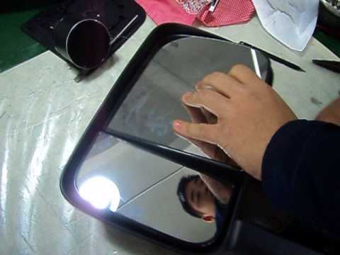 Silverado Aftermarket Tow Mirror Glass Disassembly Youtube