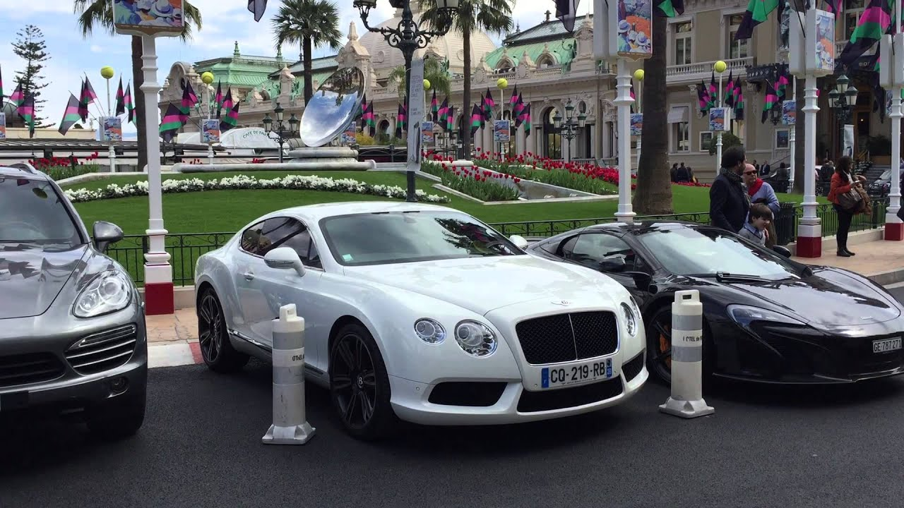 Hotel De Paris Casino Square Monaco Car Park Youtube