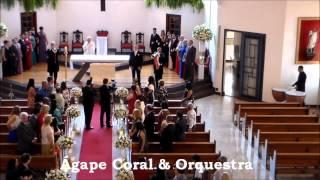 Paróquia Bom Pastor de Alphaville - Entrada da Noiva com Clarinada 2001 e Marcha