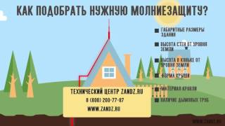 видео молниезащита частного дома с крышей