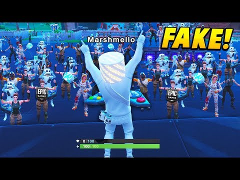I Pretended To Be MARSHMELLO At The Plesant Park EVENT.. (Fortnite Battle Royale)