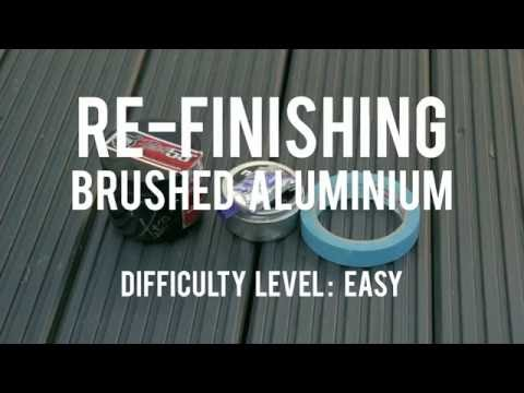 How To Restore Brushed Aluminum
