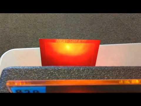 V Kool 40, Llumar DL05, Llumar DR15 Llumar Ceramic AB80 & Llumar R20 compete on a Tint Man heat lamp