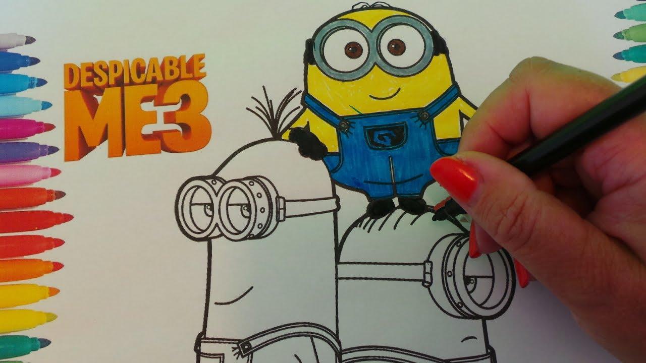 Kind Malseite - Farbe Minions aus dem Film Despicable Me 3 - YouTube