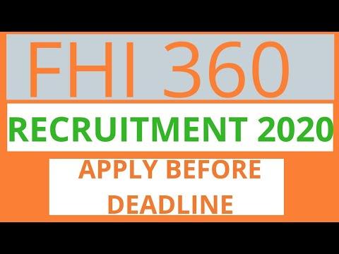 Ngo Jobs In Nigeria Fhi 360 Recruitment 2020 Youtube