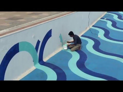 DESIGNER EPOXY PAINTING FOR SWIMMING POOL - YouTube