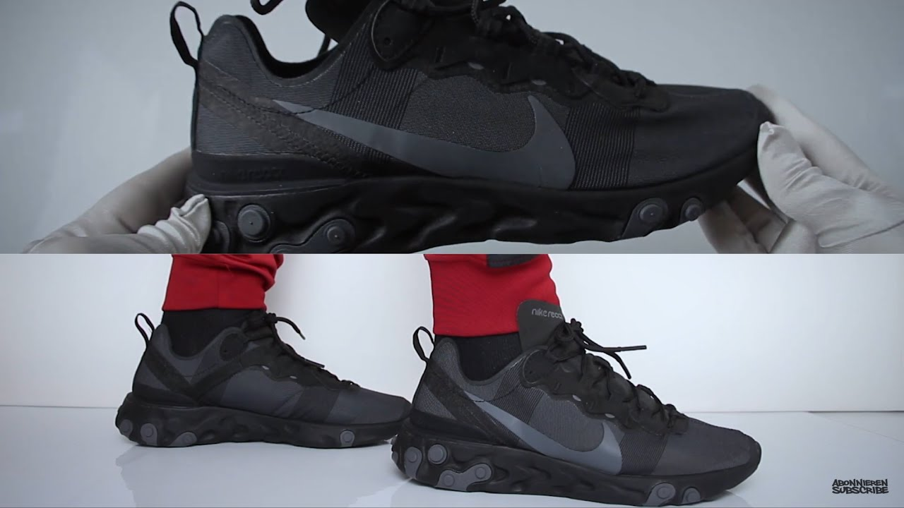 Nike React Element 55 (review)   UNBOXING & ON FEET